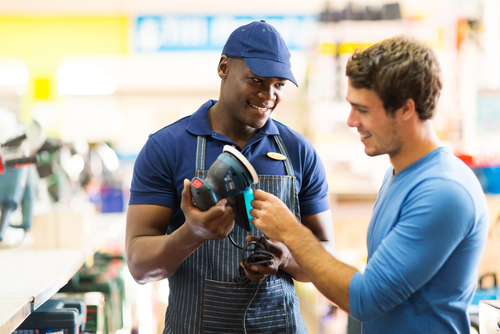 Customer service in hardware store