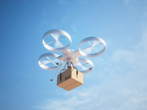 Drone-Carrying-Package