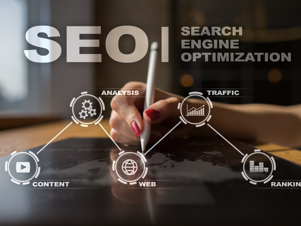 Marketer Mapping Out the Key Elements of SEO